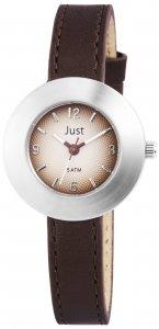 Armbanduhr Braun Silber Leder JUST JU10089