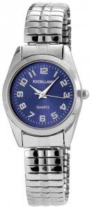 Armbanduhr Blau Silber Metall Excellanc 1700023