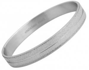 Armreifen Silber Crystal Edelstahl Akzent 65mm