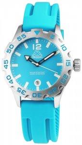 Armbanduhr Blau/Silber Datum Silikon KAPPA KP-1401L-D