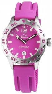 Armbanduhr Lila Silber Datum Silikon KAPPA KP-1401L-C