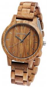 Armbanduhr Holz Braun Walnuss Leonardo Verrelli 2800033-001