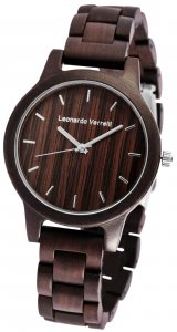 Armbanduhr Holz Braun Walnuss Leonardo Verrelli 2800033-002