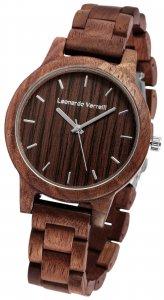 Armbanduhr Holz Braun Walnuss Leonardo Verrelli 2800033-003
