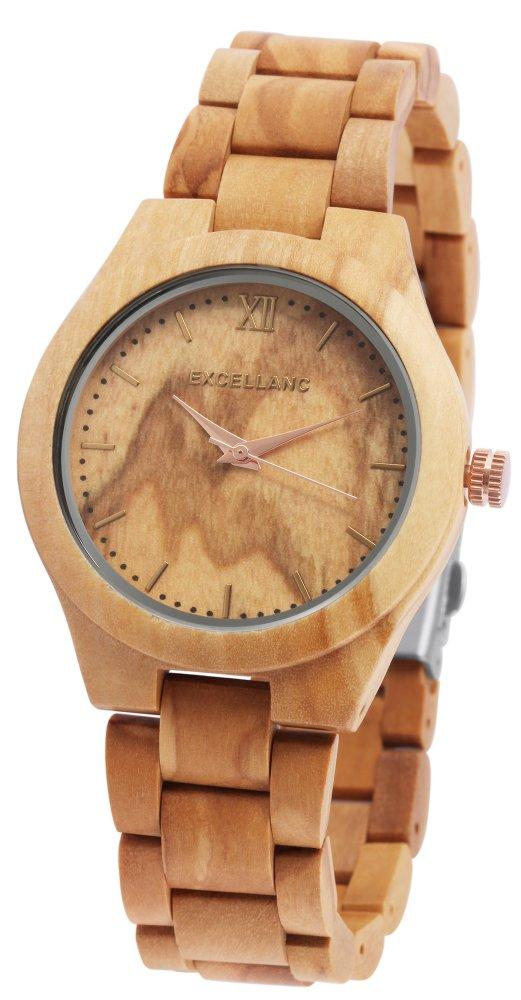 Armbanduhr Holz Olive Braun Excellanc 1800157