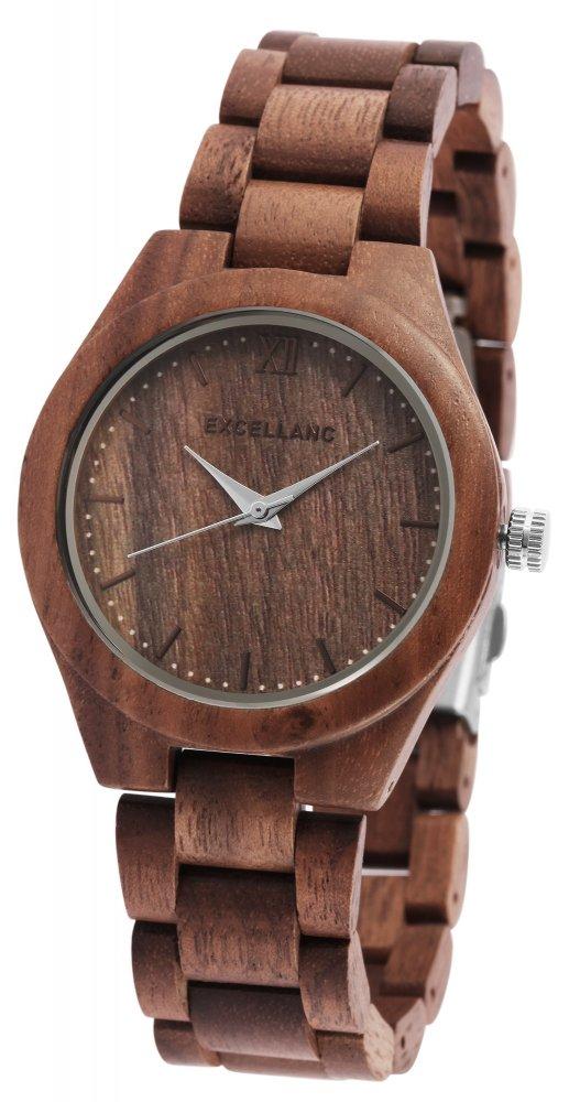 Armbanduhr Holz Walnuss Braun Excellanc 1800157