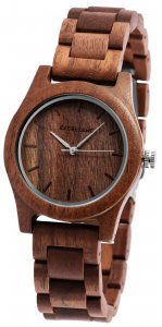 Armbanduhr Holz Walnuss Braun Excellanc 1800156