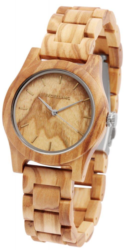 Armbanduhr Holz Olive Braun Excellanc 1800156