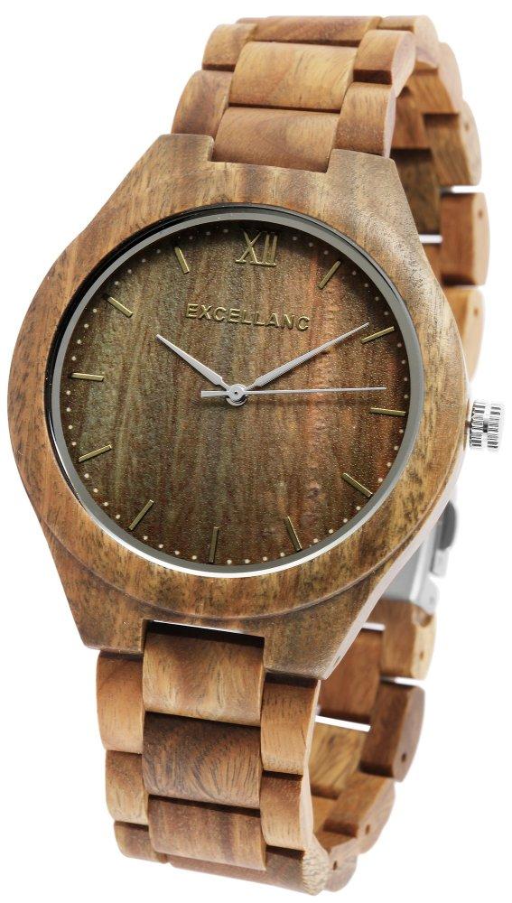 Armbanduhr Holz Sandelholz Grün/Braun Excellanc 2800049