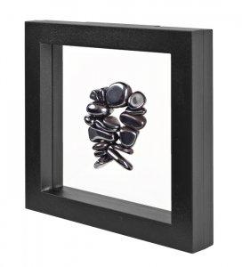 3D Schweberahmen Objektrahmen 100x100 ECO SCHWARZ