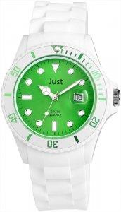Armbanduhr Grün Weiss Silikon Datum JUST 48-S5456
