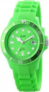 Armbanduhr Grün Silikon Datum JUST 48-S5457