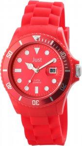 Armbanduhr Rot Silikon Datum JUST 48-S5457