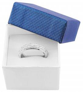Ringbox Karton Blau Weiß 5 x 5 x 3,5 cm